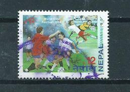 1998 Nepal Football,soccer,voetbal Used/gebruikt/oblitere - Nepal