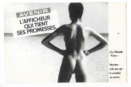PHOTOGRAPHIE De NU - AVENIR L'afficheur Qui Tient Ses Promesses - Myriam Celle Par Qui Le Scandale Est Arrivé -  - L 1 - Werbepostkarten