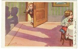 Illustrateur. Castelli. Enfants. Jeux D'Ombres. - Castelli