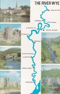 THE RIVER WYE MAP/MULTI VIEW CARD - Maps