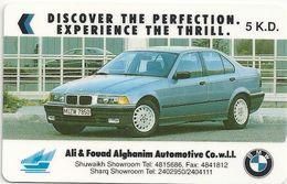 Kuwait - Ali & Fouad Alghanim Automotive Co. BMW Car - 1KBMA - 1993, 10.000ex, Used - Kuwait