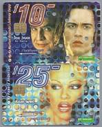 NL.- 2 Telefoonkaarten. 10 En 25 Gulden. Marlo Brando. Johnny Depp. Pamela Anderson. - Netherlands