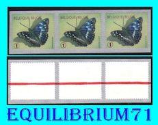 "R117** Vert/Groen - Papillon ""Petit Mars Changeant"" - BELGIQUE - Coil Stamps"
