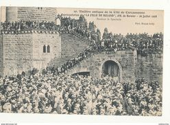 11 CARCASSONNE THEATRE ANTIQUE LA FILLE DE ROLAND CPA BON ETAT - Carcassonne