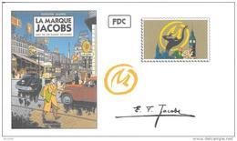 "FRANCE Entier Fictif ""La Marque Jacobs"" Blake & Mortimer JACOBS Marque Jaune Journal Tintin HERGE - Fumetti"