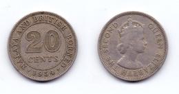 Malaya & British North Borneo 20 Cents 1954 - Malaysia
