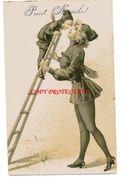 SPAZZACAMINO SCALA AUGURALE BELLA BEFANA PIN UP RAMONEUR  SCHORNSTEINFEGER 1904 1908 - Pin-Ups