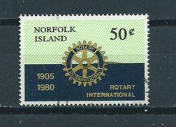 1980 Norfolk Island 75 Years Rotary Used/gebruikt/oblitere - Norfolk Eiland