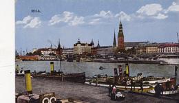 CPA  LETTONIE LATVIA RIGA Les Quais Bateaux Boats - Lettonie