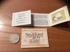 Etiquette Fromage « Neufchâtel En Bray» (+ Livret Histoire, Recette) - Quesos