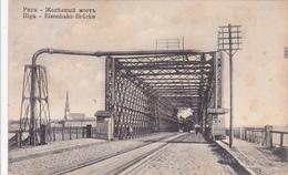 CPA  LETTONIE LATVIA RIGA Eisenbahn-Brücke - Lettonie