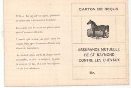 Assurance Mutuelle De Saint Raymond Contre Les Chevaux/ Carton De Reçus/  /Québec/Canada/Vers 1950  BA61 - Canada