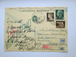 Italy WW2 Military Cartolina Postale VINCEREMO - German Stamp Censor Zensure - Italien