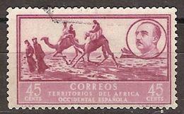 Africa Occidental U 10 (o) Usado. Paisaje Y Franco. 1950 - Marruecos Español