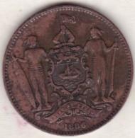 British North Borneo,  One Cent 1886 H .Victoria. KM# 2 - Malaysie
