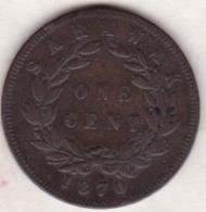 Sarawak . One Cent 1870 .  C. BROOKE RAJAH. KM# 6 - Malasia