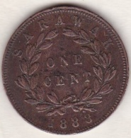 Sarawak . One Cent 1888 .  C. BROOKE RAJAH. KM# 6 - Malaysia