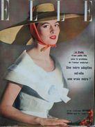 ELLE N°495 (6 Juin 1955) Mère Adoptive- Jupon - Robes Rayées - Robes Américaines - Mode