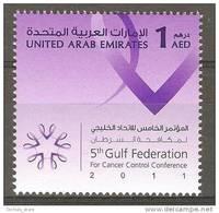 UAE 2011 5th Gulf Federation For CANCER Control MNH - Medicine - United Arab Emirates (General)