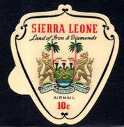 Sierra Leone - 1969 Arms 10c Black Frame (**) # SG 433b - Sierra Leona (1961-...)