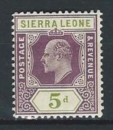 Sierra Leone SG 106, Mi 75 * MH - Sierra Leone (...-1960)