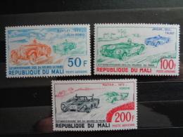 MALI 1973 P.A. Y&T N° 179 à 181 ** - 50e ANNIV. DES 24 HEURES DU MANS - Mali (1959-...)