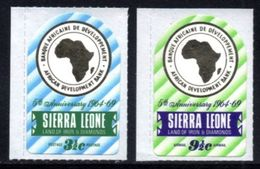Sierra Leone - 1969 5th Anniversary Of African Development Bank Set (**) # SG 491-492 - Sierra Leona (1961-...)