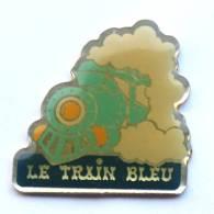 Pin's  LE TRAIN BLEU -  La Locomotive à Vapeur - G1139 - Transportation