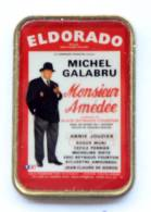 Pin's MICHEL GALABRU - Affiche De La Piéce De Théatre MONSIEUR AMEDEE - Thèatre ELDORADO - G1158 - Celebrities