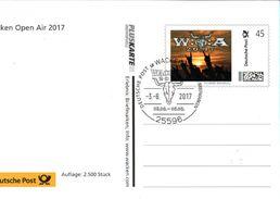 ! 2017 Ganzsache Bund, Pluskarte Individuell Auflage 2500 Stück, Wacken Open Air, Rock Music Festival - Musique