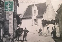 49   BLAISON    Place GAMBETTA   1907  Belle Carte - Autres Communes