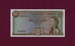 JERSEY 10 SHILLINGS 1963 P-7a AU - [ 4] Isle Of Man / Channel Island