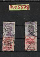 Used Advertising Stamps Perfin Italy Number 2 Francobollo Francobolli Usati Perfin Italiani Regno Pubblicitari Numero 2 - 1900-44 Vittorio Emanuele III