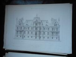 CHATEAU De MAISONS SUR SEINE Ou LAFFITTE 30 PAGES HITOIRE ET GRAVURES  PLAN Provenance PALAIS ET CHATEAUX DE FRANCE 1867 - Architecture