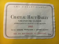 6417 -  Château Haut-Bailly 1983 Graves - Bordeaux