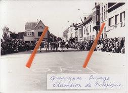 Photo 14,3 Cm X 10,2 Cm - QUAREGNON-RIVAGE - Champion De Belgique - Quaregnon