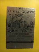 6428 -  Château Grimont 1976 1ères Côtes - Bordeaux