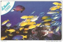 CARTE-PREPAYEE-NOUVELLE CALEDONIE-OPT-LIBERTE 1000-31/12/2009-POISSONS-GRATTE-TBE - New Caledonia