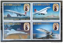 G30 - BAHRAIN 1976 SG 232-235 Complete Set 4v. MNH -  Commercial Flight Of Concorde Plane - Bahrain (1965-...)