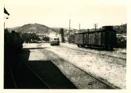 100118 PHOTO 1969 -  07 LAMASTRE Gare Rame Wagon - Train Chemin De Fer Train Locomotive - Lamastre