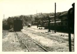 100118 PHOTO 1969 -  07 LAMASTRE Gare Rame - Train Chemin De Fer Train Locomotive - Lamastre