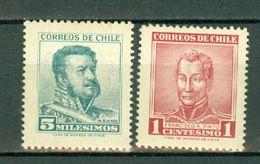 Chili  1960 Yv  280/281*   MH  (2 Scans) - Chili