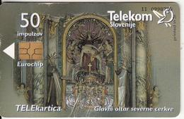 SLOVENIA - High Altar Northern Church/Rosalnice, Pilgrim's Centre, Tirage 9993, 02/00, Used - Eslovenia