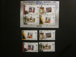 Lettland Block 21 + Nr. 652 - 655  Postfrisch** / MNH / Europa CEPT - Europa-CEPT