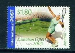 AUSTRALIA  -  2005  Tennis  $1.80  International Post  Sheet Stamp  Used As Scan - Oblitérés