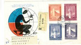 CITTA' DEL VATICANO - EXPO BRUXELLES-  FDC - S 239/242- A. 1958 - FDC