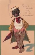 PFB #7179 Black Man Charicature 'Dere Is No Doubt Sah, Dat I Am A Haristocrat' C1900s Vintage Postcard - 1900-1949