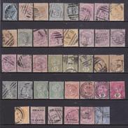 CEYLON  QUEEN VITTORIA 1872--1900  38 Francobolli Timbrati Yvert .tra I N/n 48 E 148 - Ceylon (...-1947)