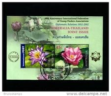 AUSTRALIA - 2002  AUSTRALIA-THAILAND  JOINT ISSUE  MS OVERPRINTED  IFSDA  FINE USED - Blocchi & Foglietti