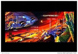 AUSTRALIA - 2000  SPACE  MS OVERPRINTED HONG KONG 2001 PHIL. EXIBITION   MINT NH - Blocchi & Foglietti